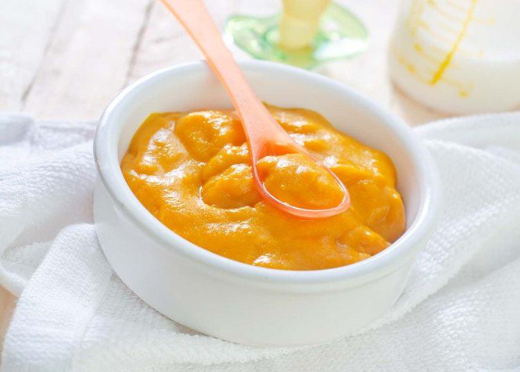 कद्दू की प्यूरी (Pumpkin Thyme Purée) शिशु आहार
