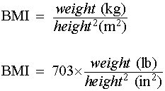 how to calculate BMI formula